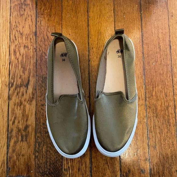 Olive Slip On Shoes